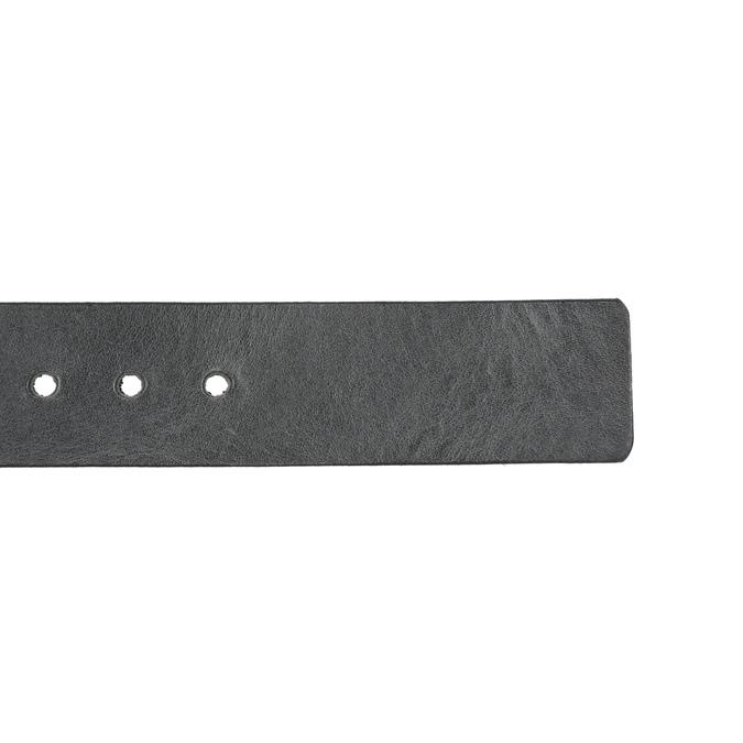 Czarny skórzany pasek bata, czarny, 954-6192 - 16