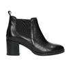 Skórzane botki damskie bata, czarny, 694-6641 - 15