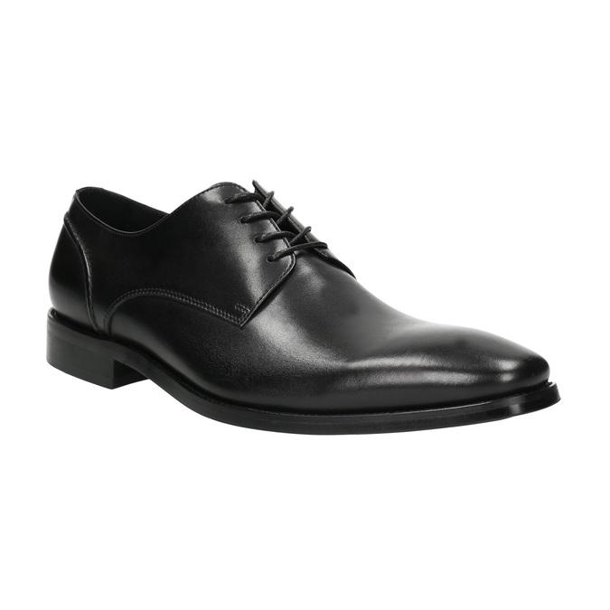Czarne skórzane półbuty typu angielki bata, czarny, 824-6405 - 13