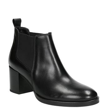 Skórzane botki damskie bata, czarny, 694-6641 - 13
