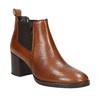 Skórzane botki na obcasach bata, brązowy, 694-4641 - 13