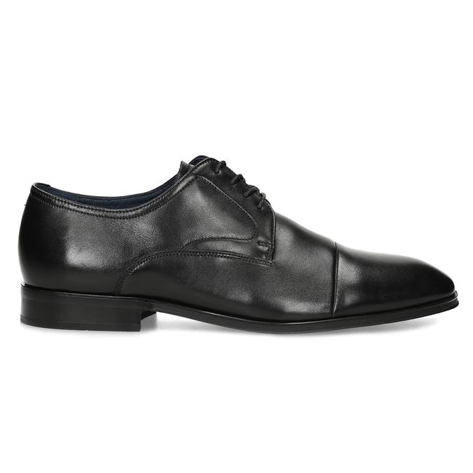 Skórzane półbuty męskie typu angielki bata, czarny, 824-6406 - 19