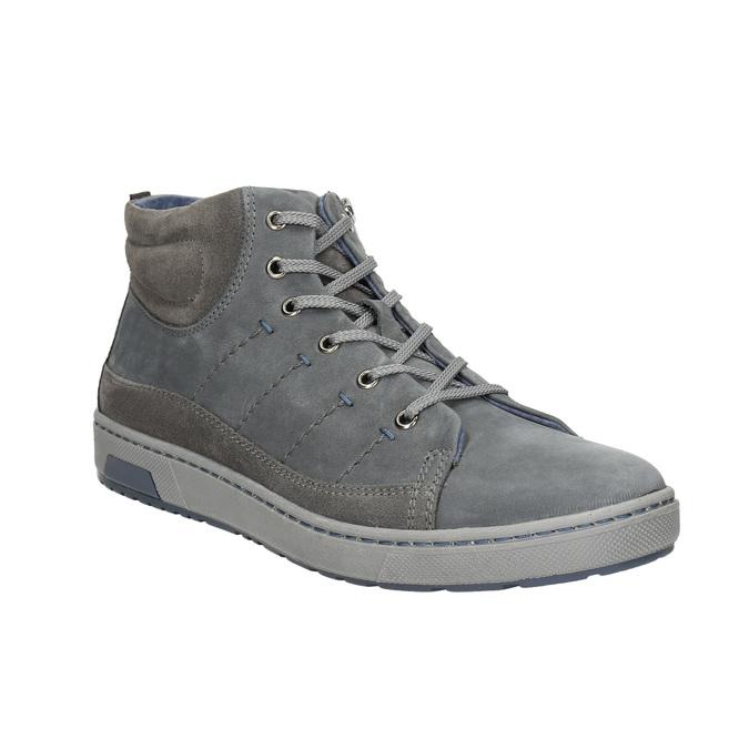 Trampki męskie za kostkę bata, szary, 846-2651 - 13