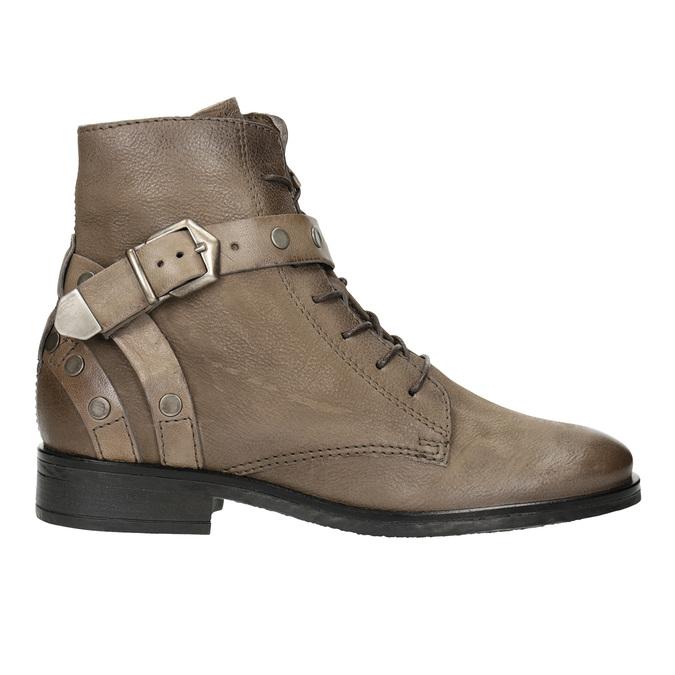 Botki damskie zklamrami bata, brązowy, 596-4661 - 26