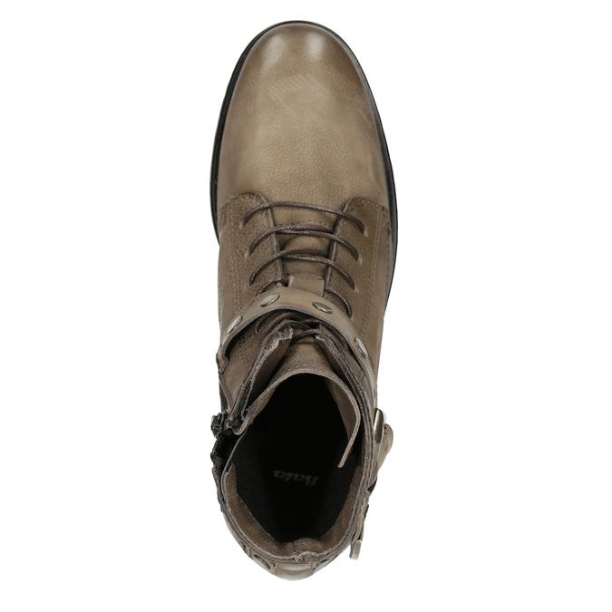 Botki damskie zklamrami bata, brązowy, 596-4661 - 15