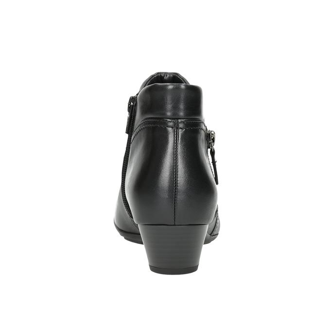 Skórzane buty za kostkę, zzamkami błyskawicznymi gabor, czarny, 614-6122 - 16