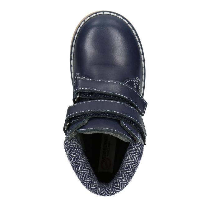 Skórzane botki dziecięce weinbrenner-junior, niebieski, 216-9200 - 15