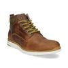 Brązowe skórzane obuwie męskie za kostkę bata, brązowy, 846-3645 - 13