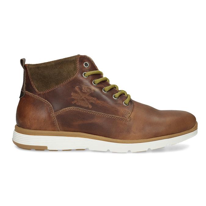 Brązowe skórzane obuwie męskie za kostkę bata, brązowy, 846-3645 - 19