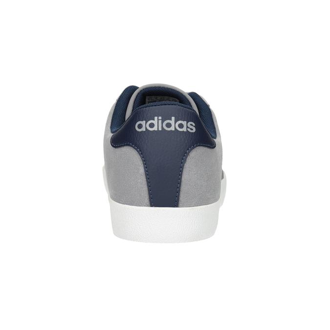 Szare trampki ze skóry adidas, szary, 803-7197 - 16