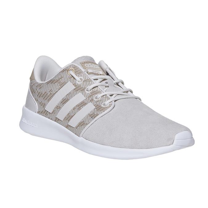 Trampki damskie wdeseń adidas, beżowy, 503-3111 - 13