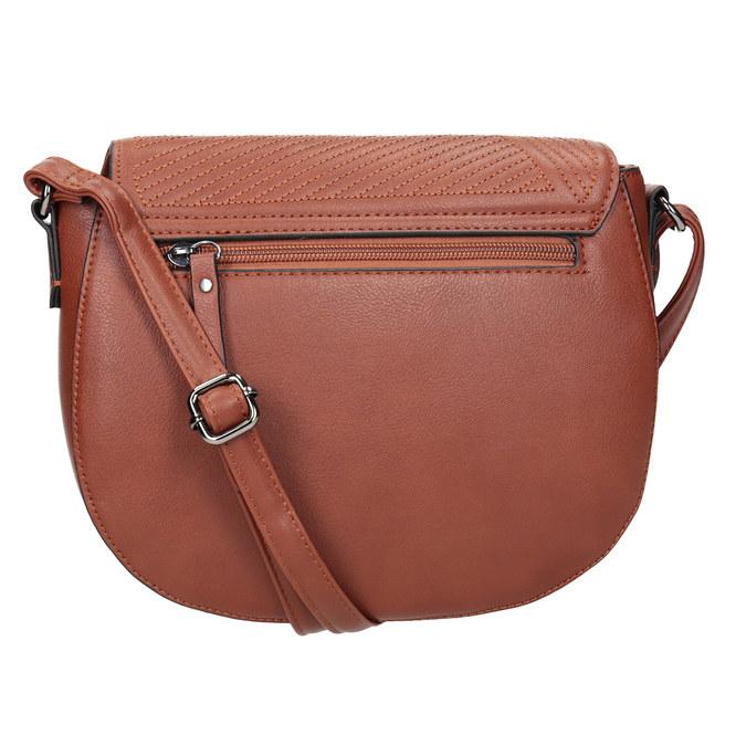 Przeszywana torebka damska gabor-bags, brązowy, 961-3055 - 16