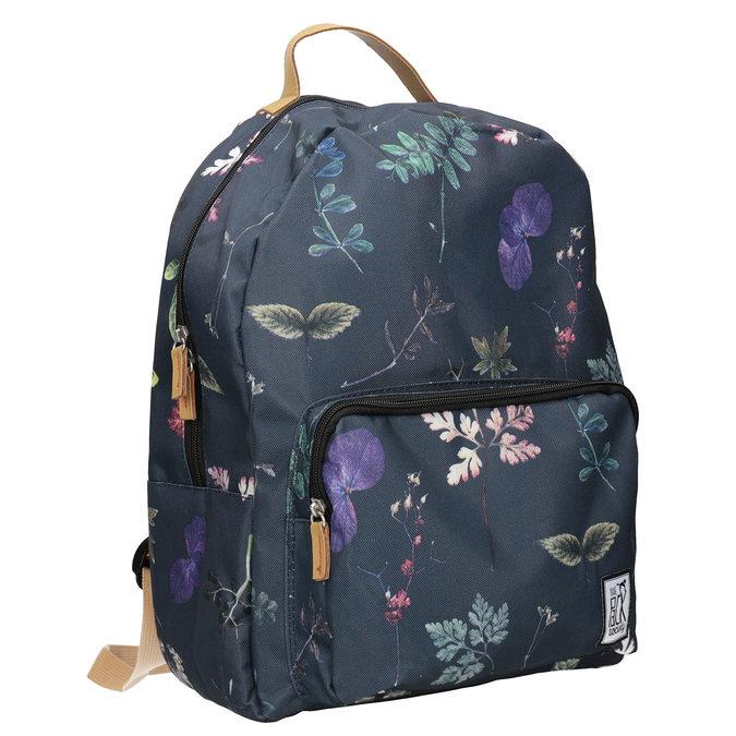 Niebieski plecak znadrukiem, niebieski, 969-9085 - 13