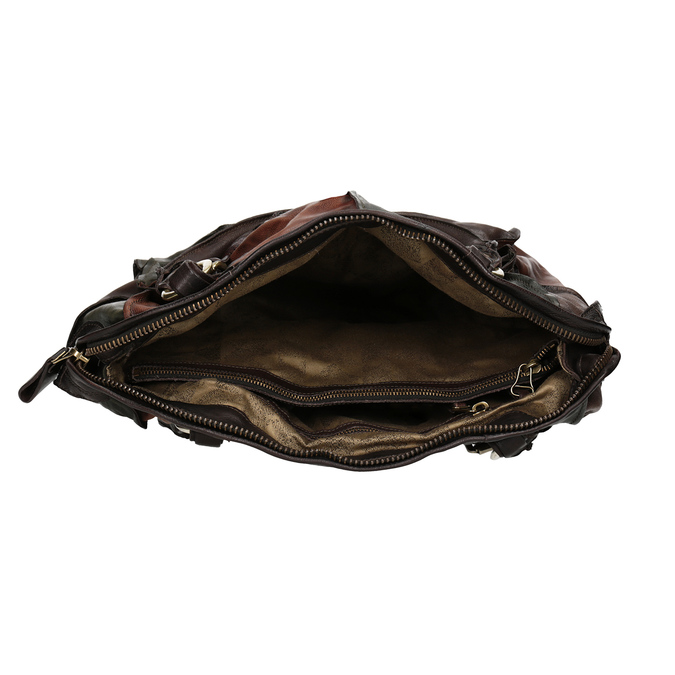 Skórzana torba patchworkowa a-s-98, multi color, 966-0062 - 15