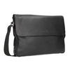 Czarna skórzana torba przewieszana przez ramię bugatti-bags, czarny, 964-6011 - 13