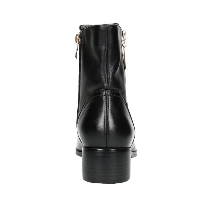 Skórzane botki ze złotymi zamkami błyskawicznymi bata, czarny, 594-6654 - 17