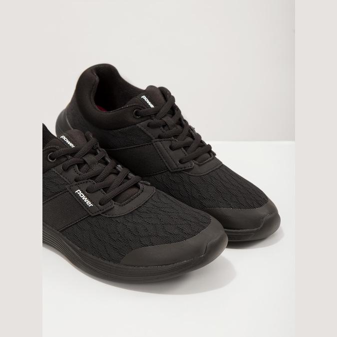 Czarne trampki damskie power, czarny, 509-6203 - 18