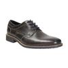 Nieformalne skórzane półbuty zfakturą bata, szary, 826-2612 - 13