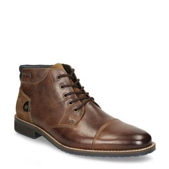 Skórzane buty męskie za kostkę bata, brązowy, 826-3611 - 13