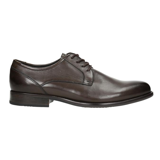 Brązowe skórzane półbuty typu angielki bata, brązowy, 824-4618 - 15