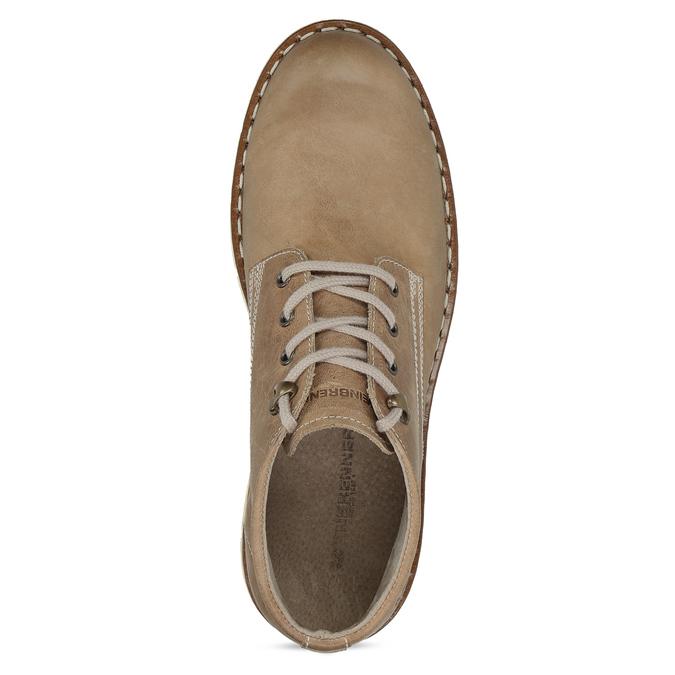 Skórzane buty za kostkę na kontrastowej podeszwie weinbrenner, brązowy, 846-4658 - 17