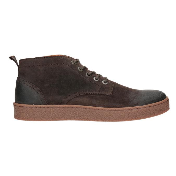 Skórzane buty męskie za kostkę bata, brązowy, 846-4653 - 26