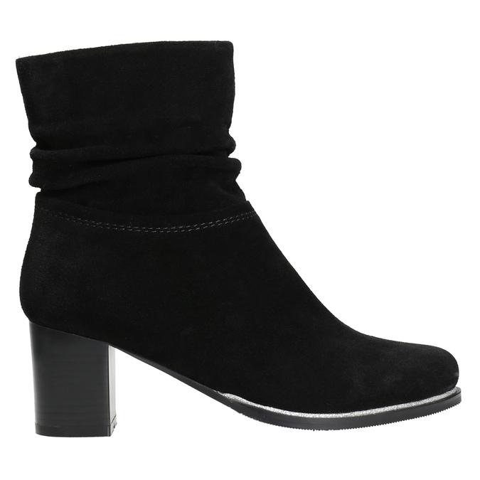 Skórzane botki bata, czarny, 693-6602 - 15