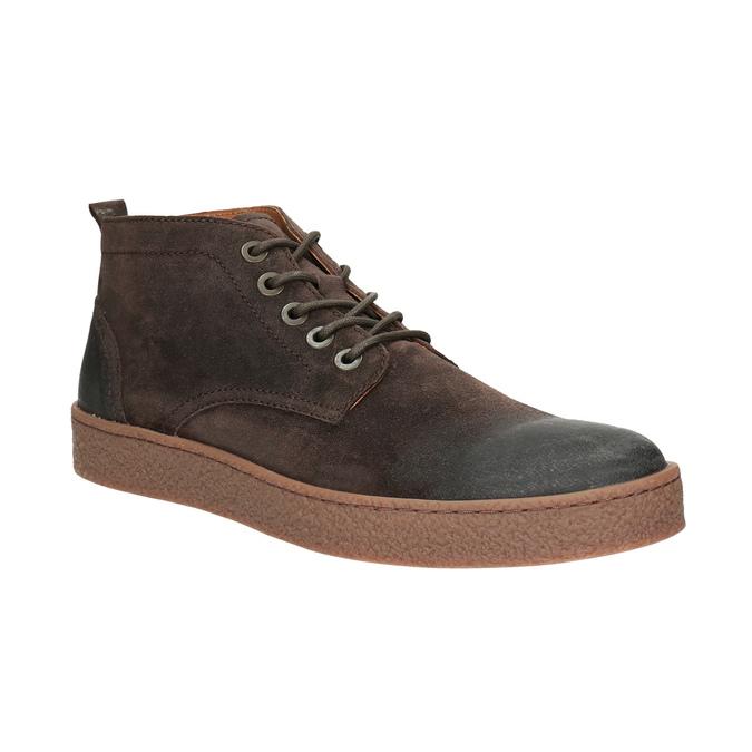 Skórzane buty męskie za kostkę bata, brązowy, 846-4653 - 13