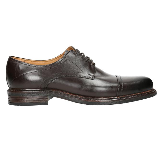 Brązowe nieformalne półbuty ze skóry bata, brązowy, 826-4914 - 15