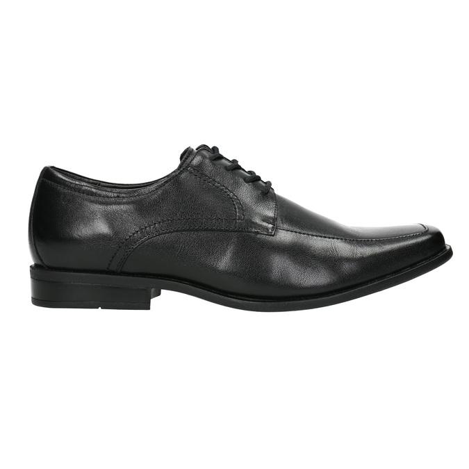 Czarne półbuty ze skóry bata, czarny, 824-6600 - 15