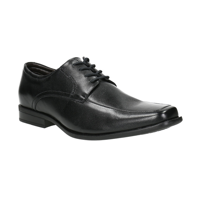 Czarne półbuty ze skóry bata, czarny, 824-6600 - 13