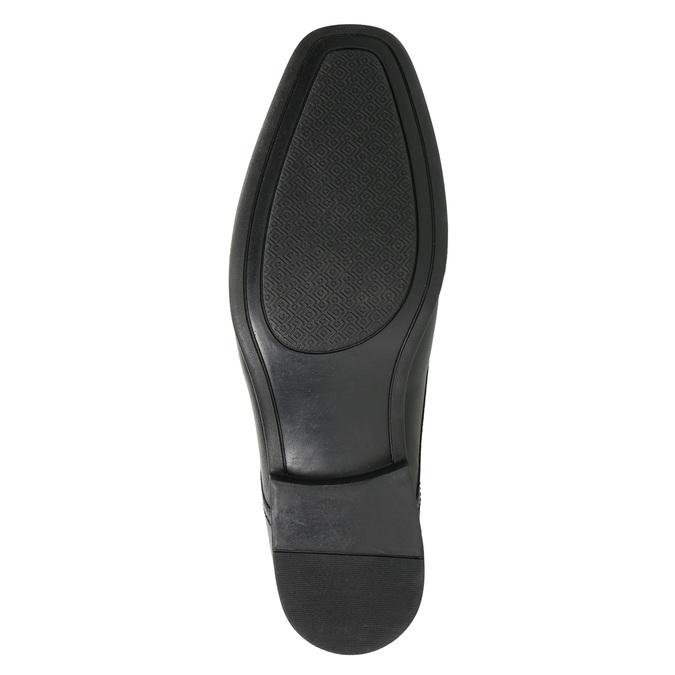 Czarne półbuty ze skóry bata, czarny, 824-6600 - 19