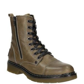Skórzane botki damskie bata, brązowy, 596-7681 - 13