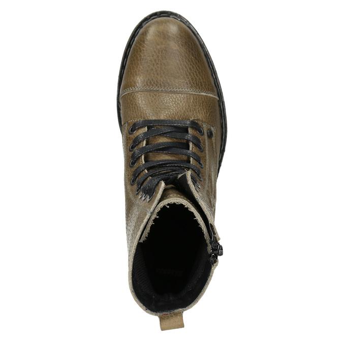 Skórzane botki damskie bata, brązowy, 596-7681 - 15