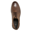 Skórzane półbuty męskie zprzeszyciami bata, brązowy, 826-4610 - 26
