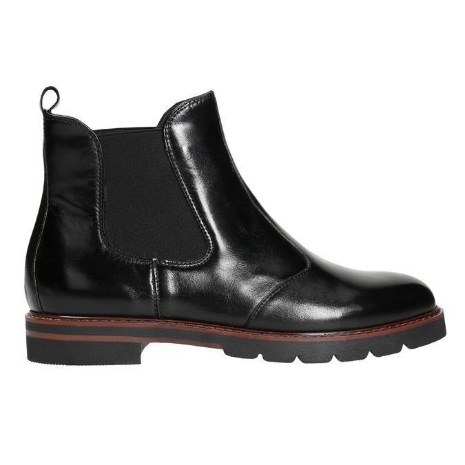 Skórzane buty damskie typu chelsea bata, czarny, 596-6657 - 15