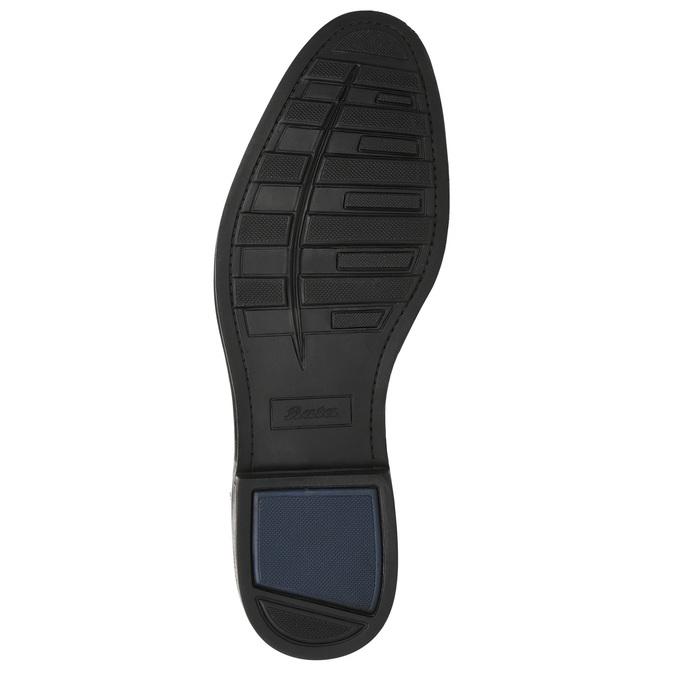 Skórzane półbuty męskie zefektem ombré bata, brązowy, 826-3914 - 19