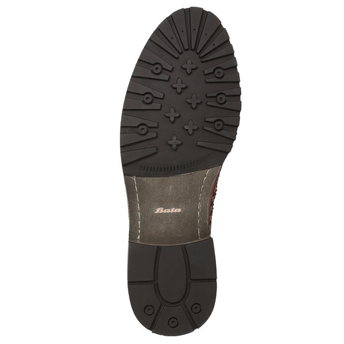 Skórzane półbuty męskie bata, brązowy, 826-3916 - 19