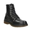 Skórzane botki damskie bata, czarny, 594-6681 - 13