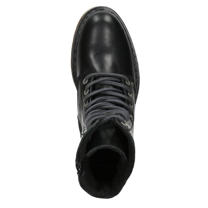 Skórzane botki damskie bata, czarny, 594-6681 - 15