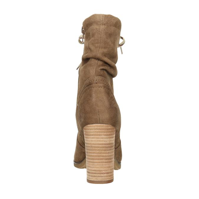 Brązowe kozaki na słupkach bata, brązowy, 799-3613 - 17