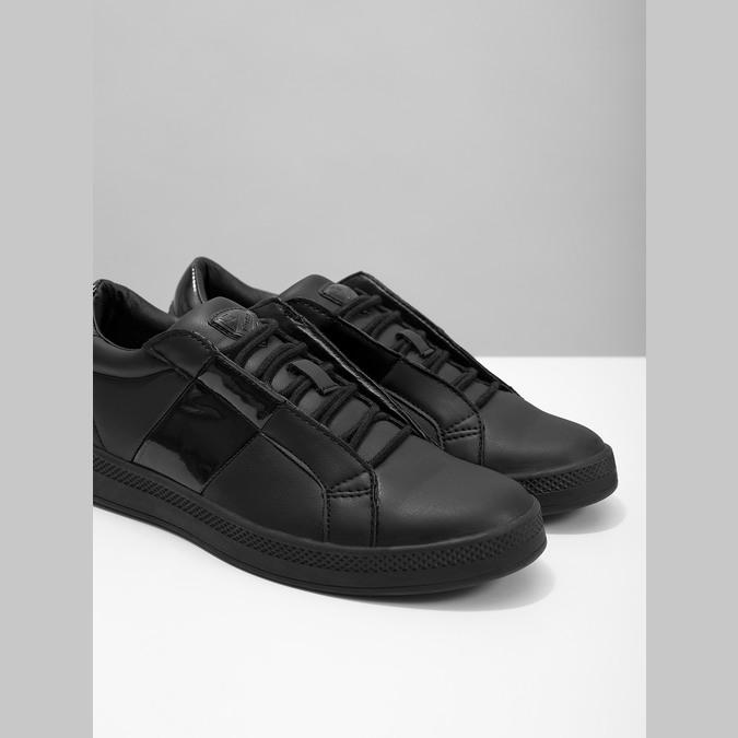 Czarne trampki damskie, czarny, 501-6171 - 14