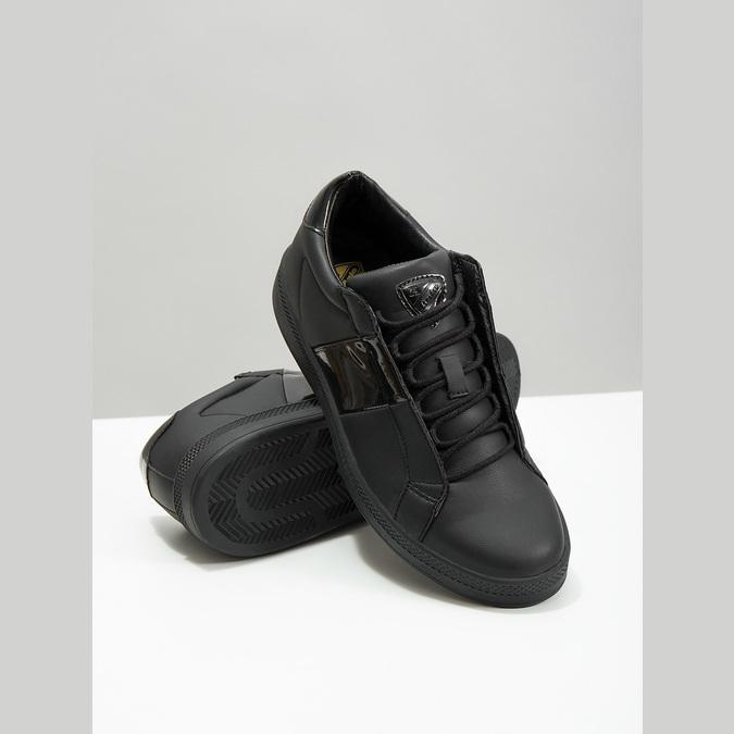 Czarne trampki damskie, czarny, 501-6171 - 18