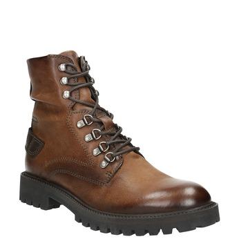 Skórzane obuwie za kostkę bata, brązowy, 896-3663 - 13
