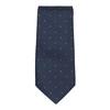 Komplet krawatu, poszetki ispinek do mankietów bata, niebieski, 999-9298 - 26
