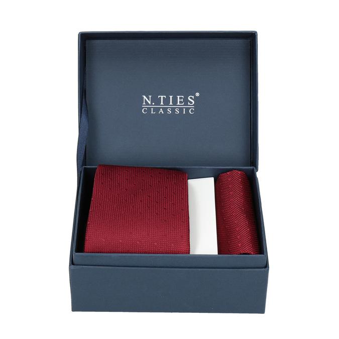 Komplet krawatu iposzetki wkolorze czerwonym bata, czerwony, 999-5290 - 13