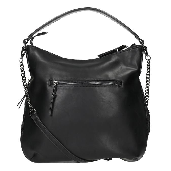 Czarna torebka damska wstylu hobo bata, czarny, 961-6177 - 16