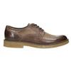Brązowe półbuty ze skóry bata, brązowy, 826-4620 - 15