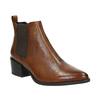 Skórzane buty damskie typu chelsea na obcasach vagabond, brązowy, 614-4020 - 13