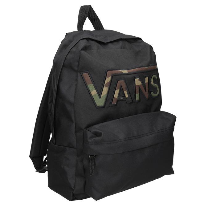 Czarny plecak zlogo vans, czarny, 969-6078 - 13